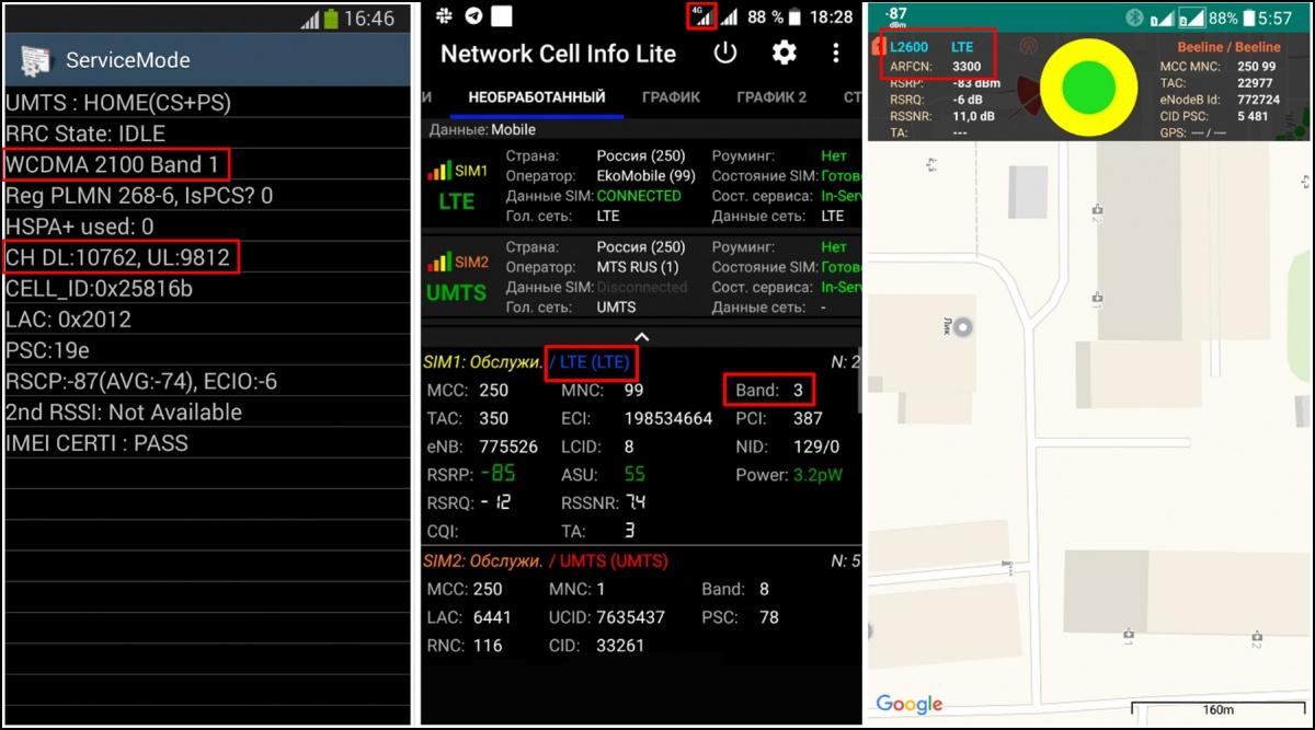 Рисунок 1 - Использование сервисного меню смартфона и приложений