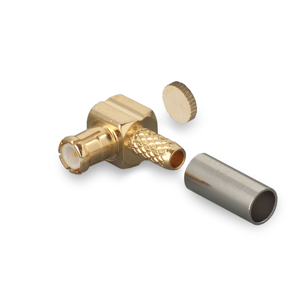 Разъем MCX(male)- RG174, RG316 обжимной угловой купить за 170 рублей на сайте компании Крокс